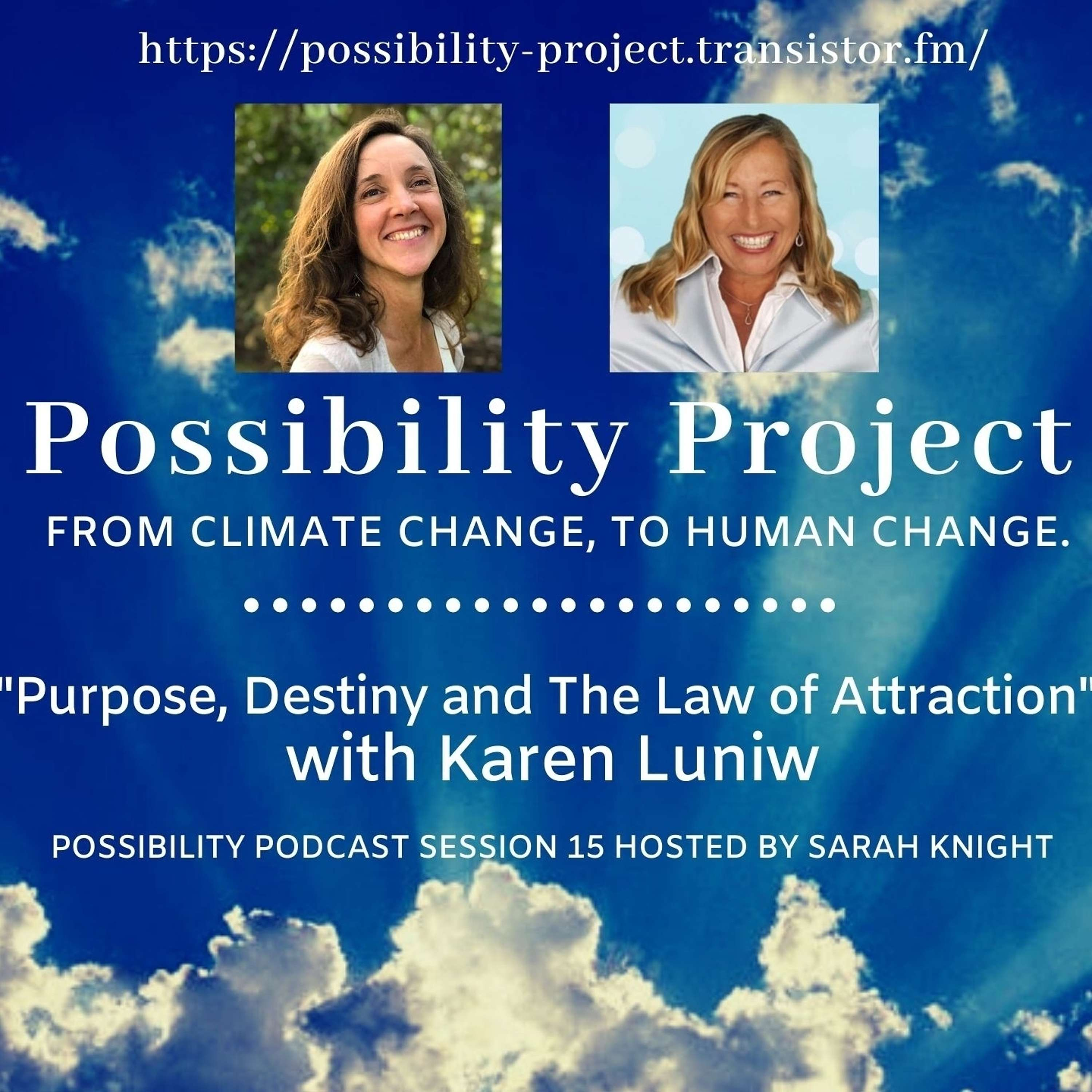 Purpose, Destiny and The Law of Attraction. Possibility Podcast Session 15