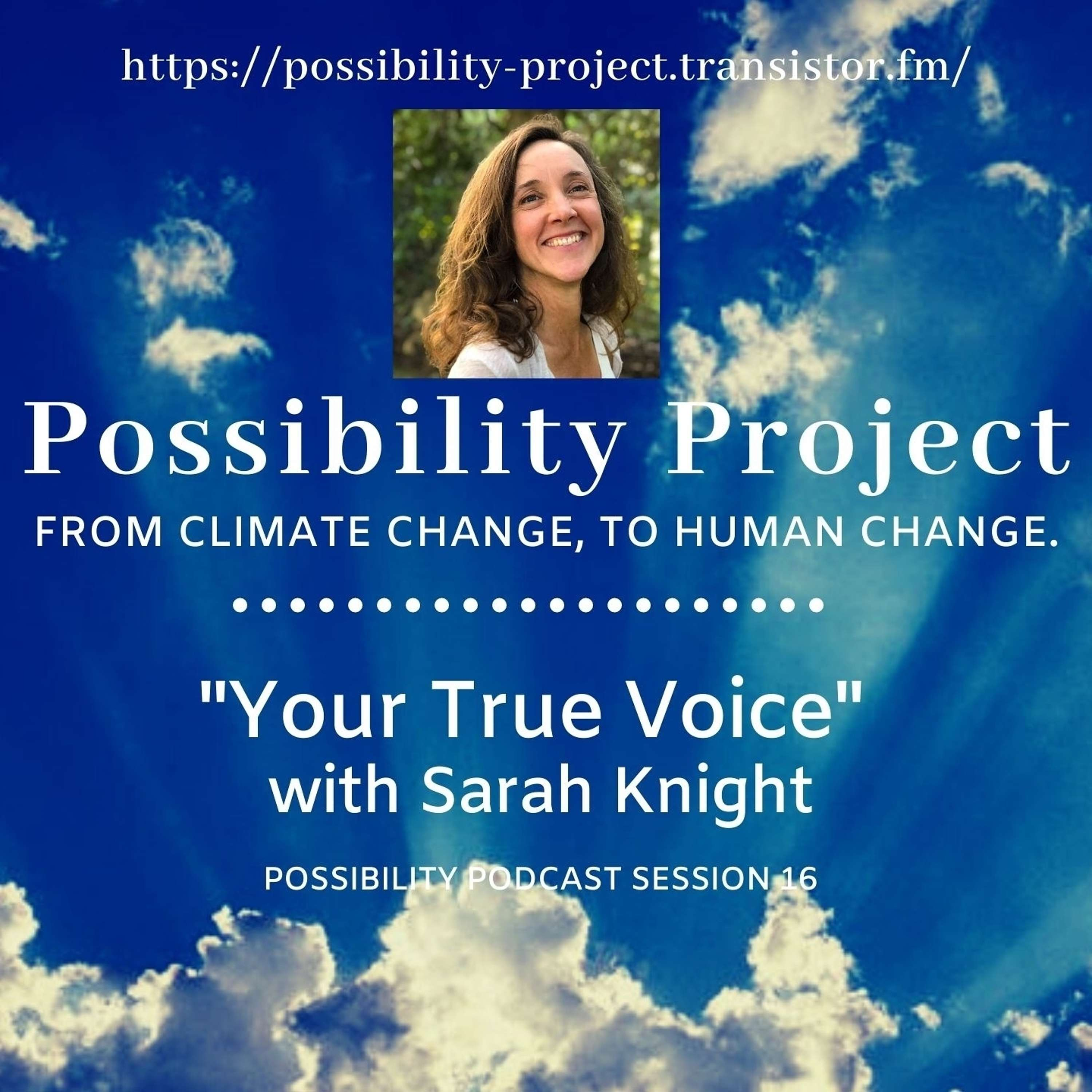 Your True Voice. Possibility Podcast Session 16