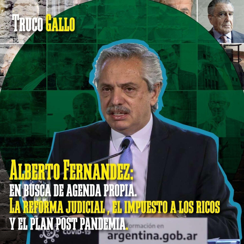 Alberto Fernández en busca de agenda propia