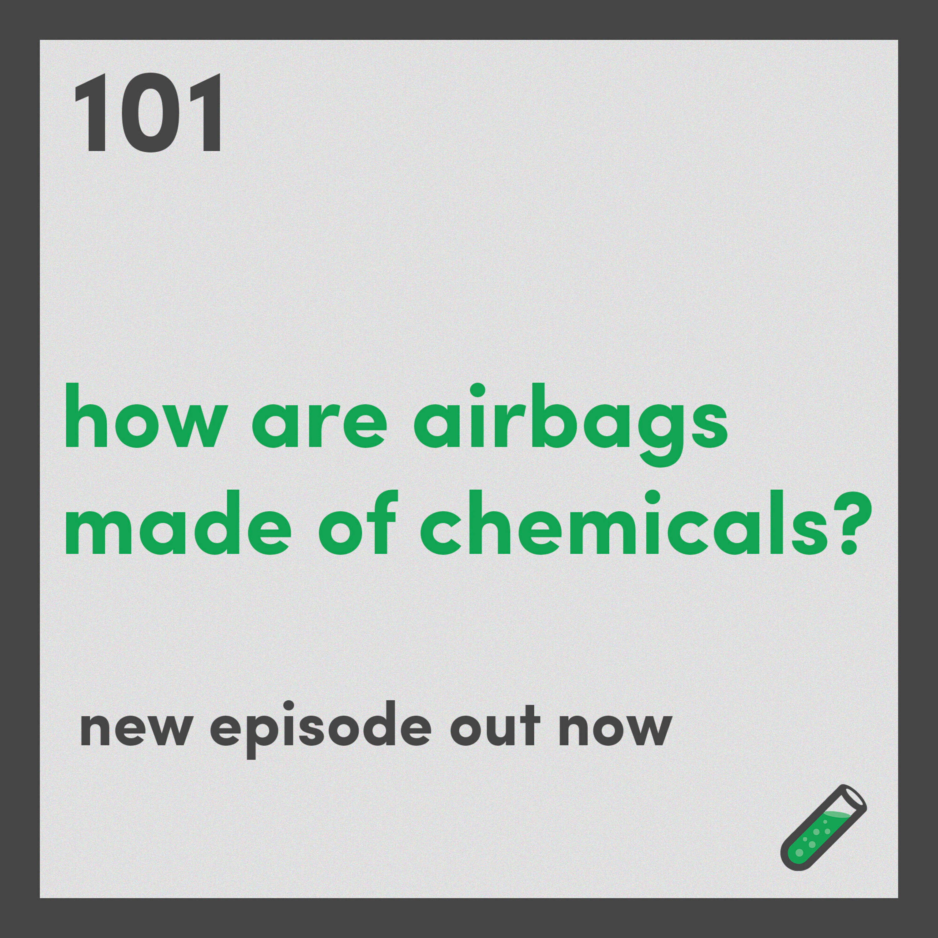 How are airbags made of chemicals?