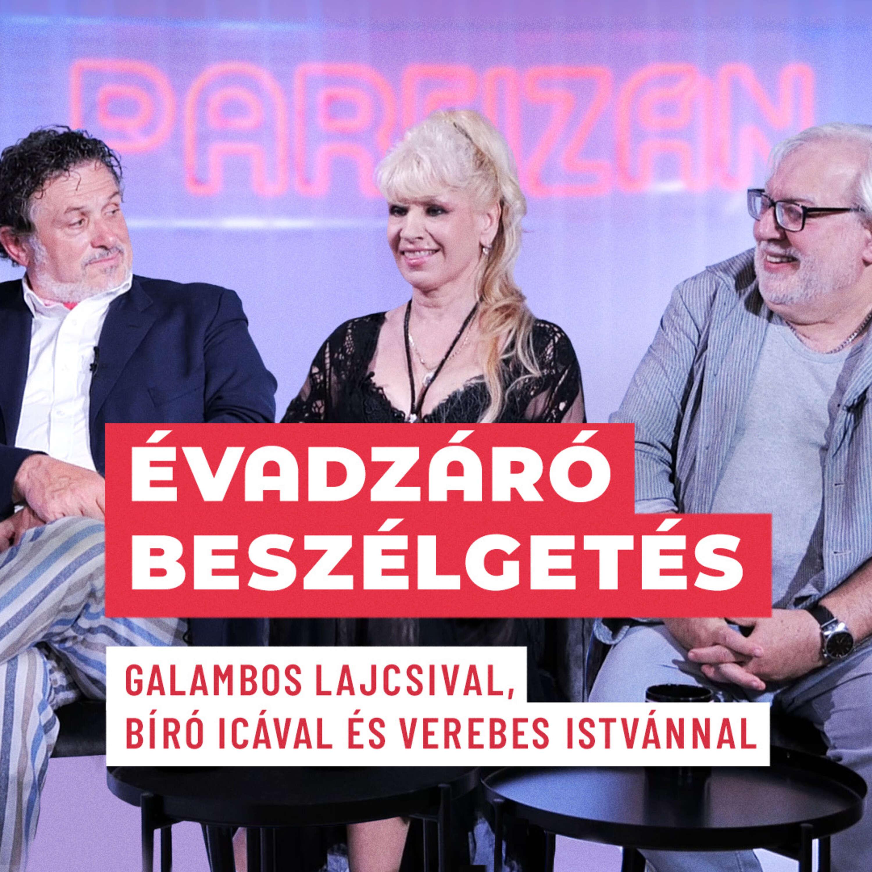 Bíró Ica, Galambos Lajcsi és Verebes István   Partizán POP évadzáró